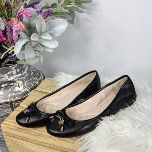 VINCE CAMUTO Lunna ballet flat black leather